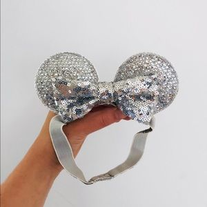 Baby Size Silver Mouse Ears